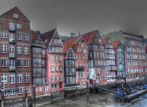 Hamburg buildings at the Elbe